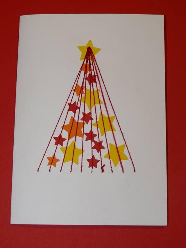 Vyšívaný vánoční stromeček