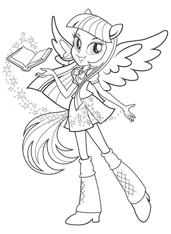20 Twilight Sparkle Coloring Pages In 2020 My Little Pony Coloring My Little Pony Twilight Girl Pony