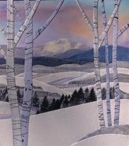 Jo Diggs hand applique quilt - site has lots of art quilt ideas - A pioneer in lanscape form.  Take one of her classes if you get a chance.