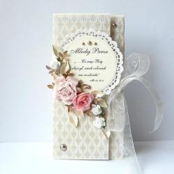 Kopertówka ślubna - w pastelach - Kartki okolicznościowe - Akcesoria