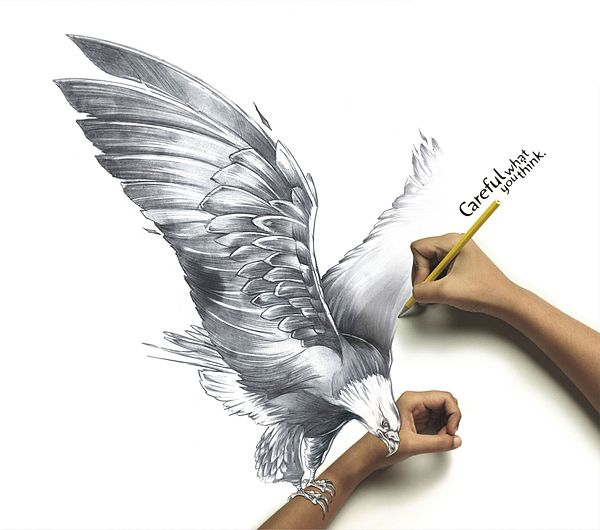 Creative Ads – Live Drawings for Animaster: Never draw a hyper realistic eagle