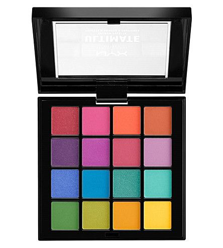 I love a rainbow eyeshadow palette! There are 4 NYX PROFESSIONAL MAKEUP Ultimate Shadow Palettes available, this one is Brights. It features a vivid mix of velvety-rich textures and mesmerizing finishes that range from mattes and satins to shimmers and metallics. #affiliate