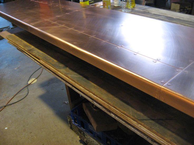 Heavy copper bar top copper bar top copper bar top