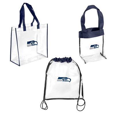 Seattle Seahawks Game Day Bags- stupid new nfl no purse rule