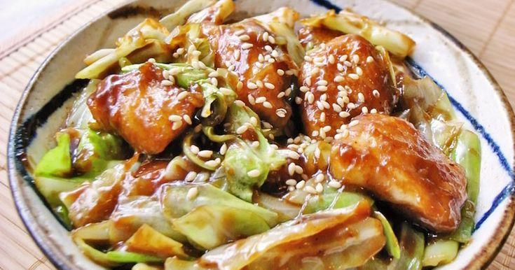 キャベツと鶏胸肉のピリ辛味噌丼!回鍋肉風 by moj [クックパッド] 簡単おいしいみんなのレシピが254万品
