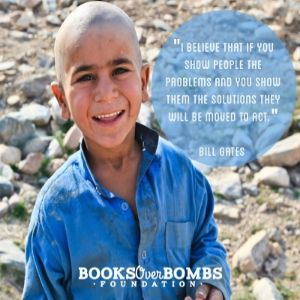 Our first fundraising campaign!   Read the full article here http://www.booksoverbombs.org/blog/2014/12/13/booksoverbombs-1st-fundraising-campaign