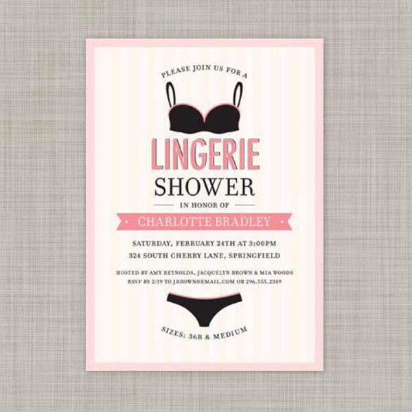 9 best Lingerie Shower Invitations & Ideas images on ...