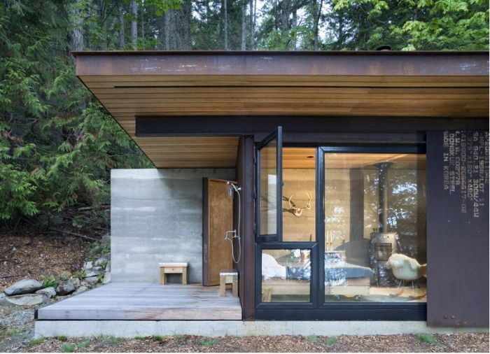 A Master #Architect Builds a Tiny Cabin in the Pacific Northwest by Meredith Swinehart