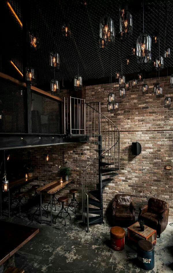 Dark industrial interior...This would make a mighty fine lounge/dungeon...If someone were to be interested in that sort of thing.