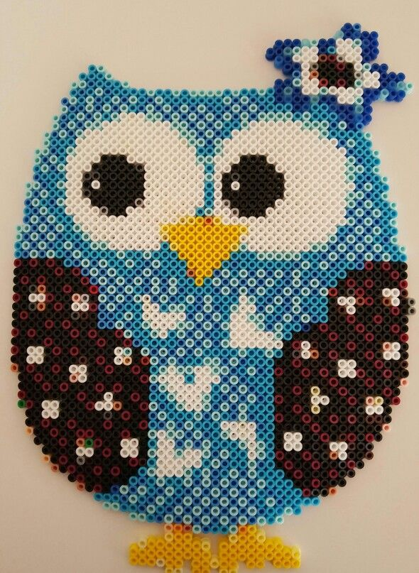 Who Dat Owl out of Perler beads