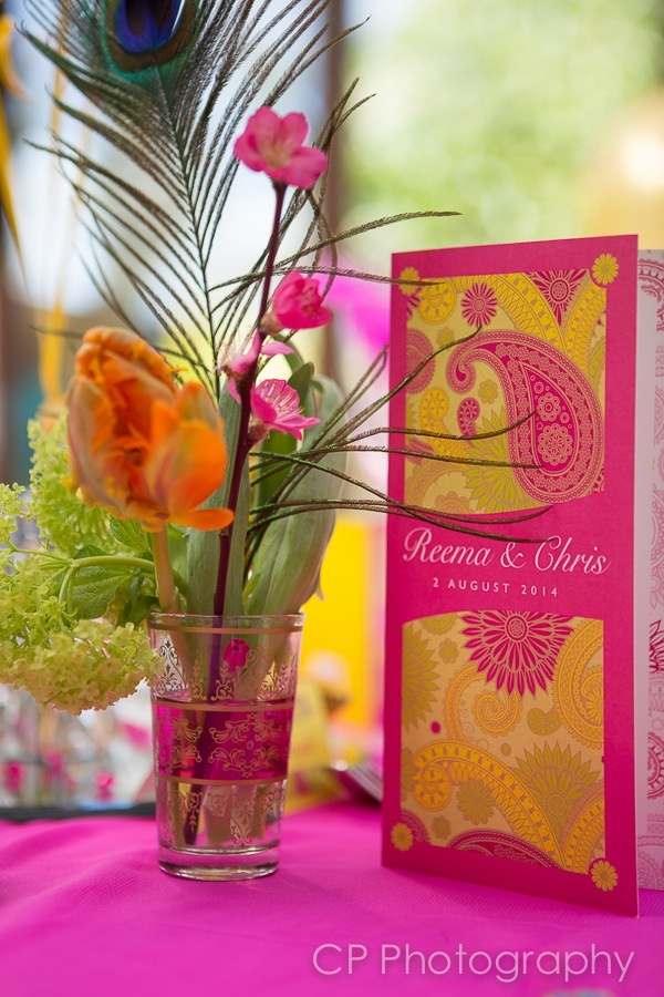 Bombay Mix from Fuschia's Asian Dreams wedding and celebration collection. 3 fold wedding invitation, perfect for a fusion east meets west.  Stationery by wwww.fuschiadesigns.co.uk