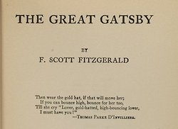Wear the golden clothes as Great Gatsby