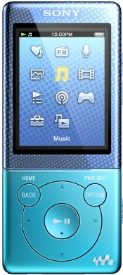 NWZ-E474 Blue -  Super-slim with powerful walkman sound