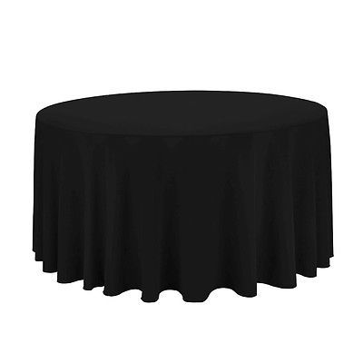 120 Round Tablecloth Economy Polyester (10 Pack)