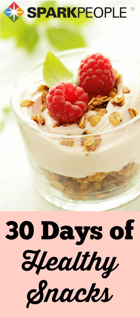 Get snacking the right way with this helpful calendar. There's a healthy snack for every day of the month to help you stay on track! via @SparkPeople