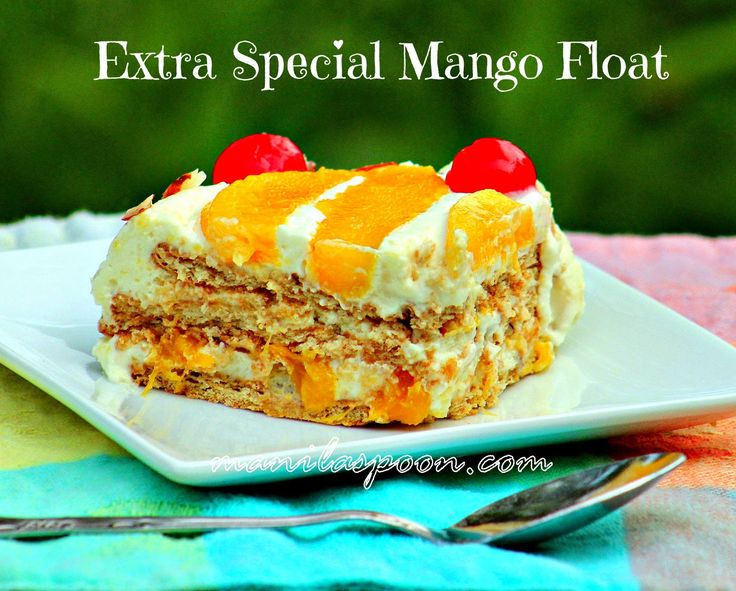NO BAKING mango float | whipping or heavy cream,  1/2 - 2/3 cup sweetened condensed milk, or to taste  1/2 - 1 teaspoon Vanilla Extract A little Honey (optional)  3-4 Mangoes, 1 pack Graham Crackers   6 Tablespoons Sliced Almonds