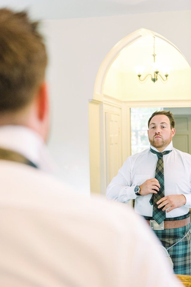 Groom Prep // The Gibsons Photography // wedding photographers Scotland // fine art wedding photographers // natural wedding photographers // creative wedding photographers // weddings Scotland // Scotland wedding // Destination Wedding Photographers // farm wedding // Drumtochty Castle // groom // kilt // tartan