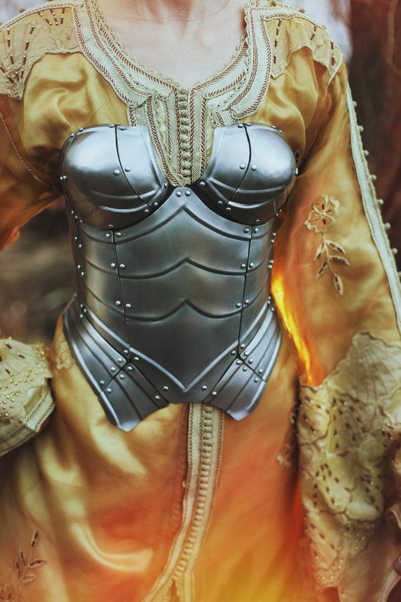 Steel Armor Corset Queen of the Lake by IronWoodsShop on Etsy