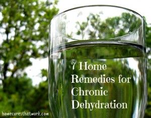 7 Remedies for Chronic Dehydration by Flickr elycefeliz