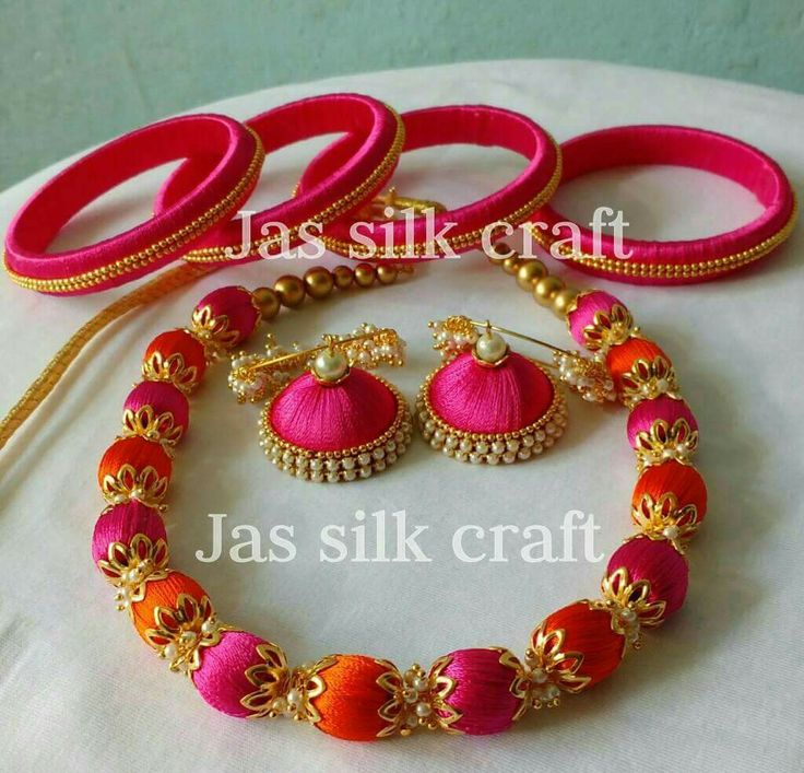 Paper Jewelry Diy Ideas Jewelery Thread Bangles Jewellery Indian Quilling Craft Tunic