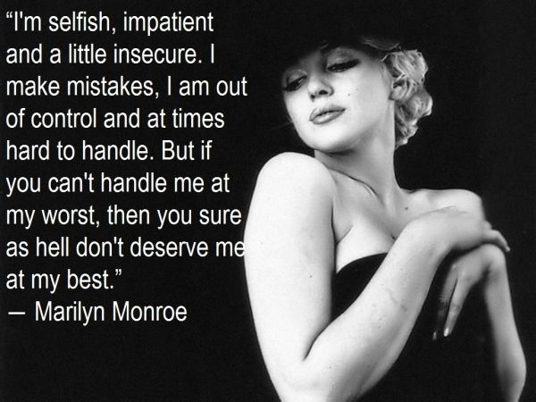 7. Marilyn Monroe - 7 Break up Quotes to Look Back on when You Are Dumped ... → Love