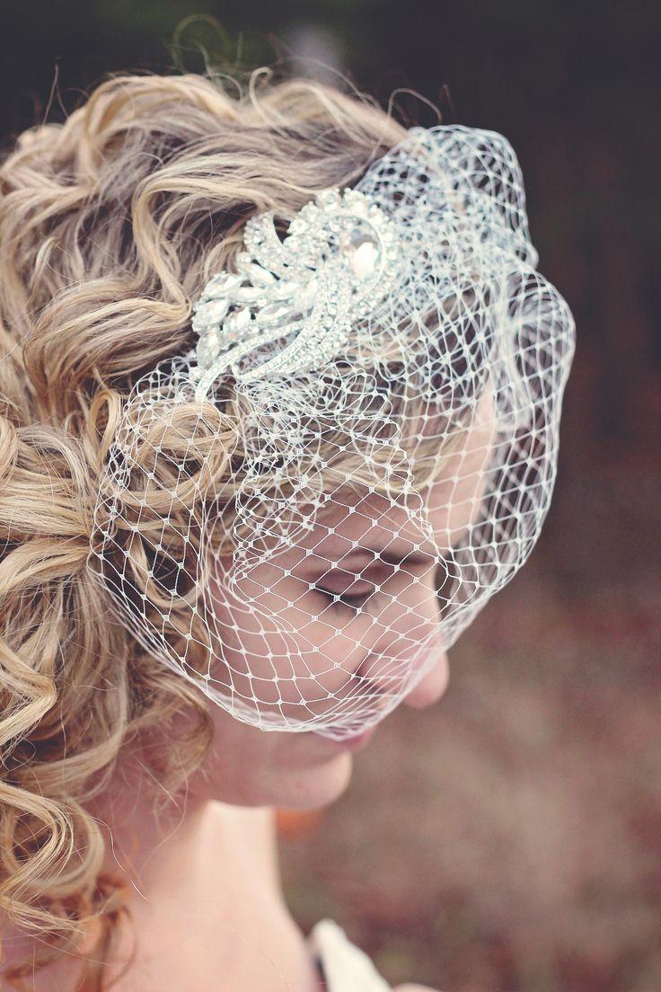 Veil | Birdcage Veil | Wedding Veil | Wedding Birdcage Veil | Russian Netting | Blusher Veil | Mini Veil | Blusher | Ivory Veil
