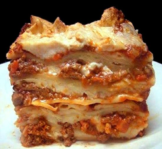 Lasagna Bolognese: The meatiest, creamiest, cheesiest lasagna you will ever have - from scratch!