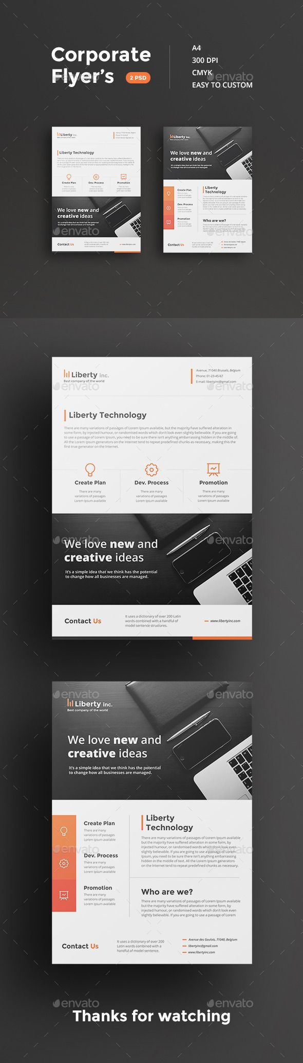 Awesome Corporate Flyers Template #design Download…