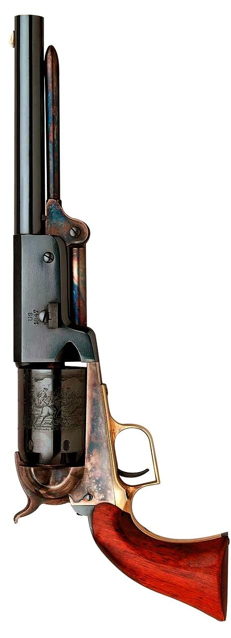 """The 1847 Colt® Walker is a weapon for the toughest soldiers and lawmen on the re-enactment frontier. – The 1847 Walker was the most powerful revolver made, until .357Mag was introduced in 1935. Inspired by Lt Col Samuel H. Walker of First Regiment, Texas Mounted Riflemen, it fired .44 caliber balls, """"…cast 32 to the pound."""" This gun will soon be listed on our website. Until then, please email: luke@huntinganddefense.com -- SKU 500A"""