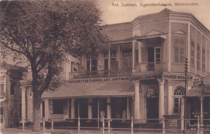 Batavia, Pabrik Rokok Ant. Justman, 1909