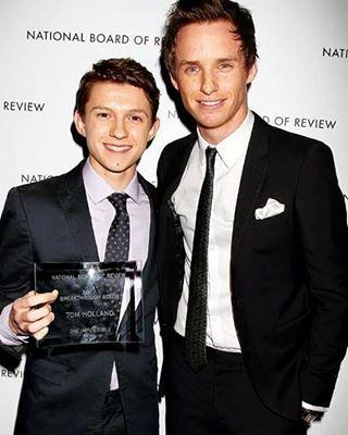— When Newt Scamander met to Peter Parker/Spiderman. Okay..Eddie Redmayne and Tom Holland⚡. — [...#eddieredmayne #tomholland...]