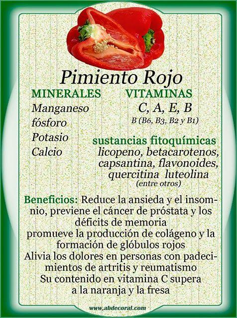Monica Aries: Pimiento Rojo. beneficios y propiedades