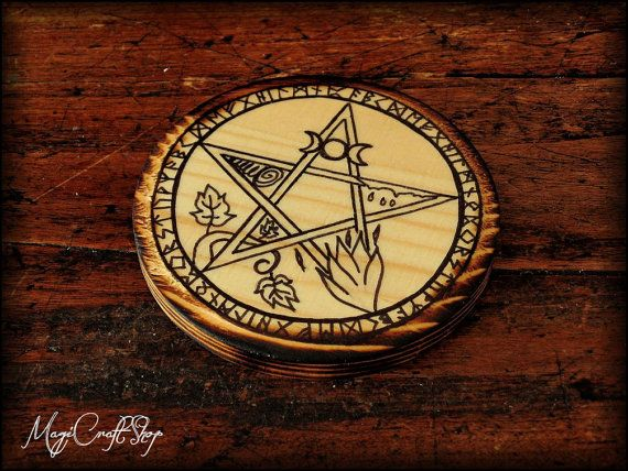 Altar pentacle ELEMENTS in two different colors  by magicraftshop