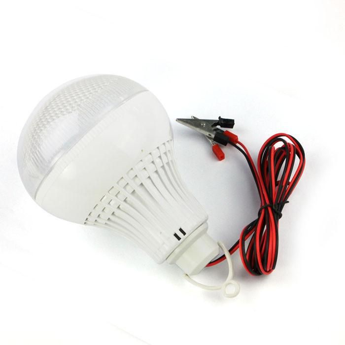Dc 12v To 85v 12w Wide Voltage Led Light Bulb Dc Battery Clip And Wire Camping Led Light Bulb Battery Lamp Bulb