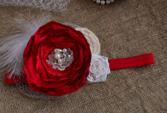 Девочка-обогатительного Девочка туалетный держатель ребенка желтый красные волосы луки красные кружева цветок туалетный Новорожденный Оголовье