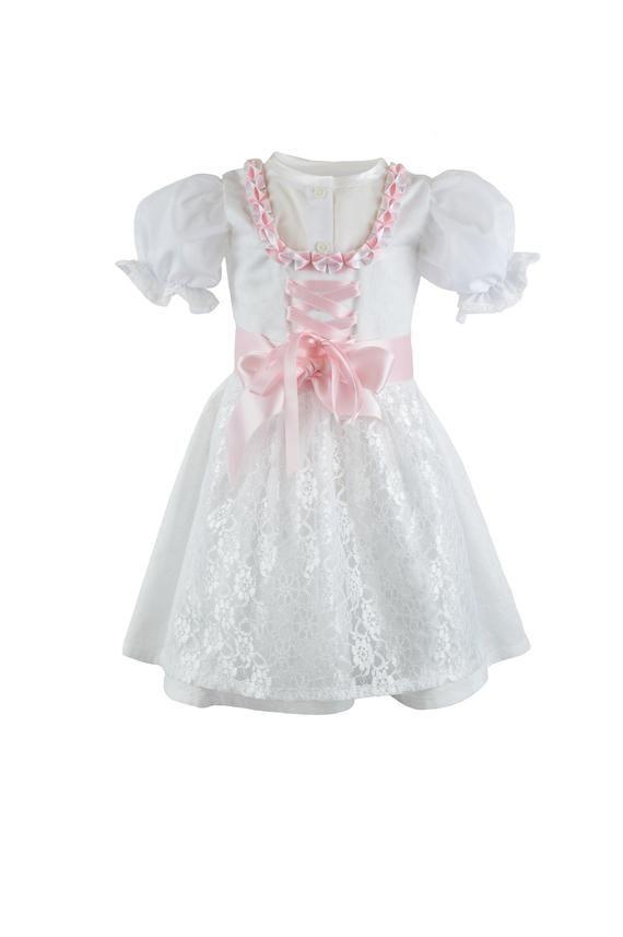 Baby Taufkleid mit Kopfband Festkleid Hochzeitskleid 100/% Baumwolle 62 68 74