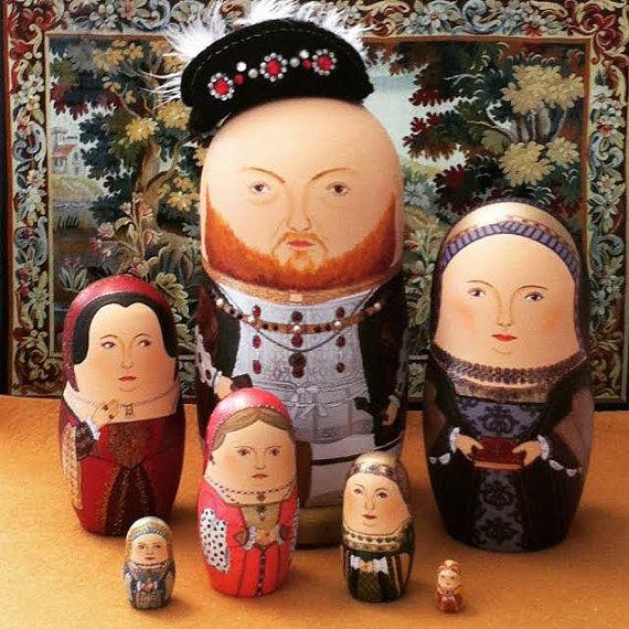 The Six Wives of Henry VIII Matryoshka Dolls by bobobabushka