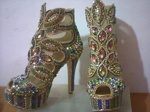 Radiance Samba Sandals Stones & Crystal - Special Request Only - Leather