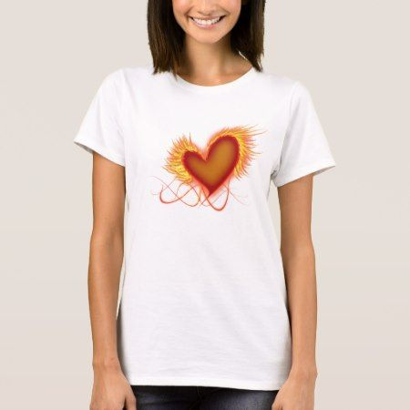 Heart on Fire T-Shirt - tap, personalize, buy right now!