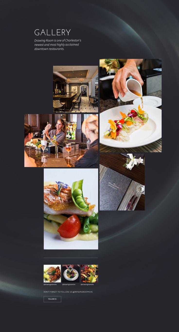 Drawing Room Restaurant Website on Behance