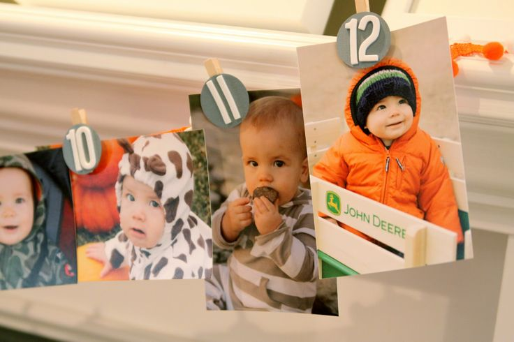 Love this idea for a first birthday party idea... or for graduation w/ years instead of months!