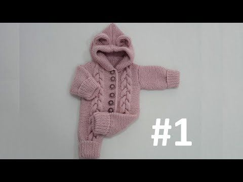 Kapüşonlu Bebek Tulumu (1 Yaş) #1 - Beden Yapımı - YouTube