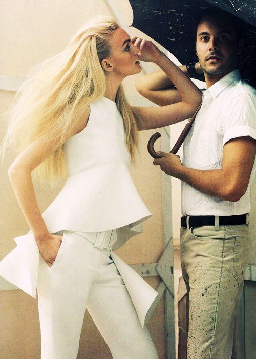 Caroline Trentini in Céline | Ph: Craig McDean | Vogue 01/12: Vogue, Jack Huston, Style, Caroline Trentini, Celine Trends, Jack O'Connell, Fashion Editorials, Clothes Line, Hair