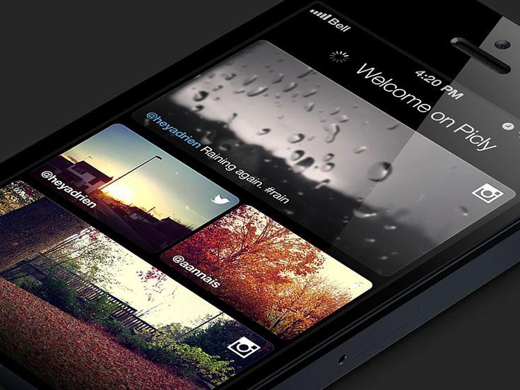 Photo board app by Adrien Rochet