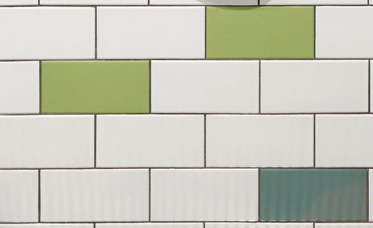 Matt White, Sea Green and May Green Tiles from Signorino Tiles Richmond from the bathroom at Herbert St project