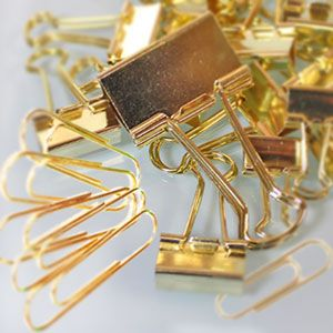 Gold Desk Accessories And Office Supplies