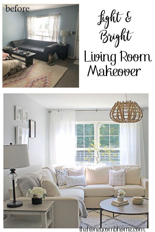 Before And After Living Room Makeover With Bassett Furniture Living Room Transformation Farm House Living Room Living Room Makeover