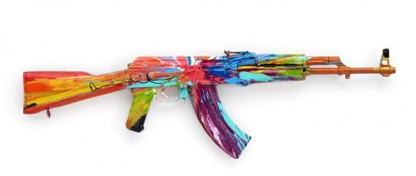 A Gallery Of Images. Artists Transform AK-47's into Peace Art