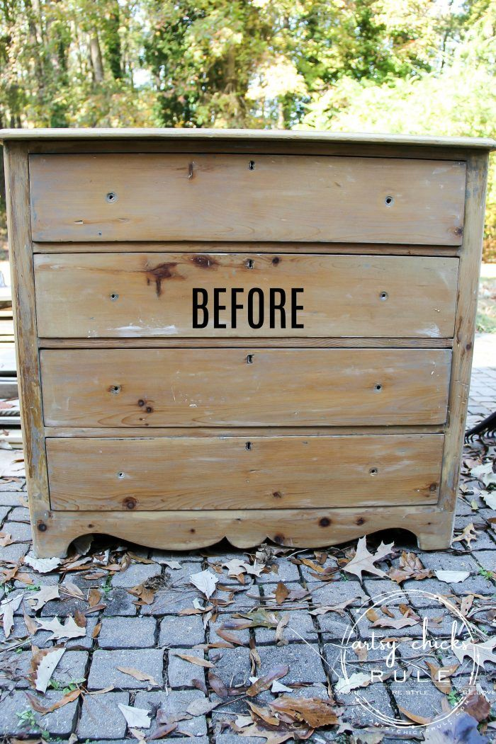 White Stain Dresser So Simple With Chalk Paint Stained