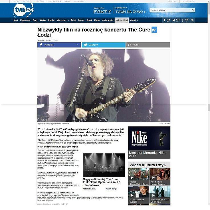 """The Cure Lodz Multicam"" article in @tvn24.pl music news section. #TheCure #Lodz #Multicam #free #fan #film #project #thecuretour2016 #RobertSmith #rock #pop #indie #goth #alternative #postpunk #80s #90s #music #video #instamusic #łódź #atlasarena #poland #concert #koncert #nazywo #live #download @thecure @cgm.pl @radio_parada @antyradio @radio_rmffm @radio_zet @cojestgrane24 @rzeczpospolita_dziennik @radiolodz @newsweekpolska @tygodnikwprost @martinmarszalek"